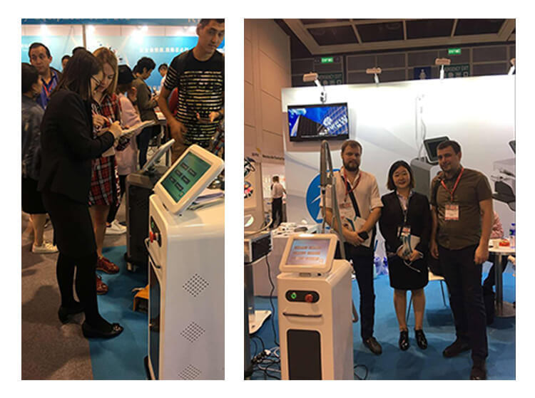 Our clients and our nd yag laser machine